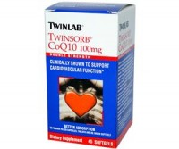 Twinlab Twinsorb CoQ10 100 mg 45 softgels