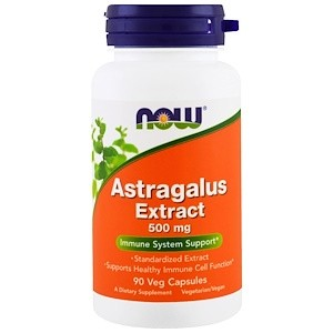 NOW Astragalus 70% Extract 500 mg 90 vcaps
