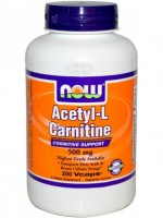 NOW Acetyl L-Carnitine 500 mg 200 vcaps