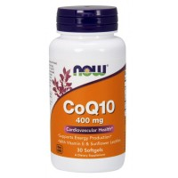 NOW CoQ10 400 mg 30 softgels